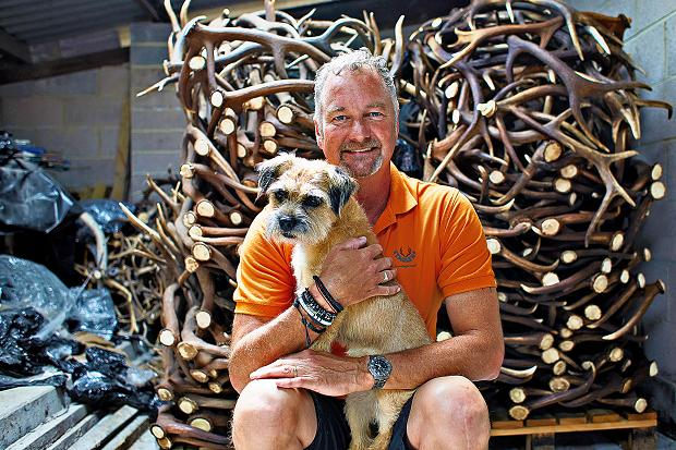 Staglers deer antler dog chew owner John guarantees fast service