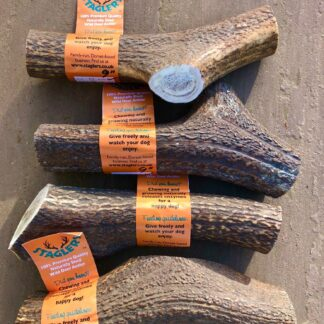 Staglers 9 inch natural eco friendly deer antler dog chews for pets